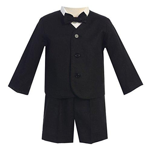 - Lito Little Boys Black Eton Short Formal Ring Bearer Easter Suit 5