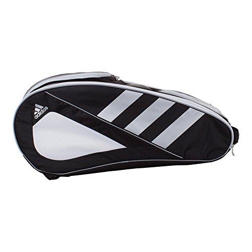 adidas Tour Tennis 12 Racquet Bag, Black/White/Silver, One Size by adidas