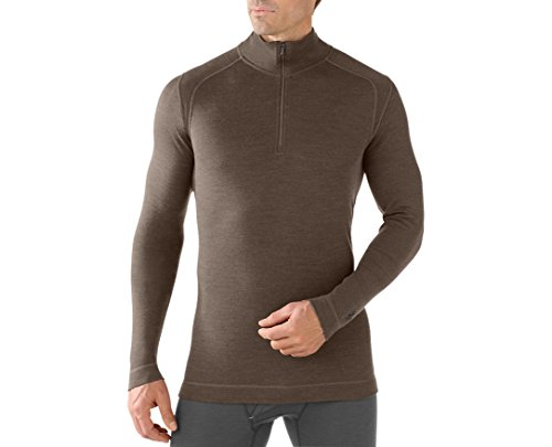 Smartwool Men's NTS Mid 250 Zip T (Taupe Heather) Medium - Past Season by SmartWool
