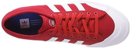 adidas Unisex-Kinder Matchcourt Sneaker Schwarz (Scarle/ftwwht/gum4)