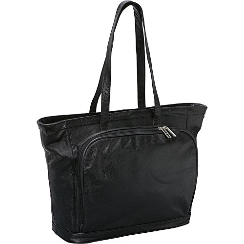 AmeriLeather Cosmopolitan Leather Tote (Black) ()