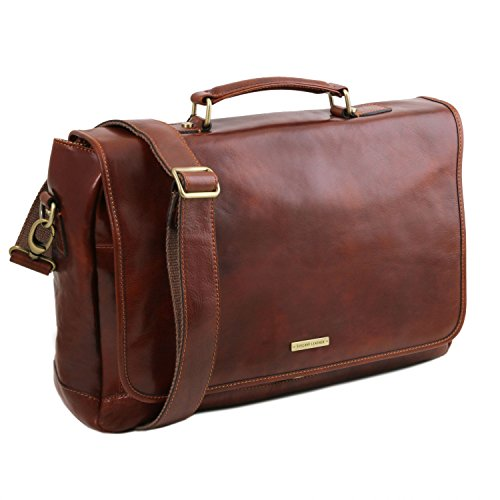 with compartment flap multi Tuscany Honey SMART Leather briefcase Leather Honey TL Mantova SwZwxIn8qf
