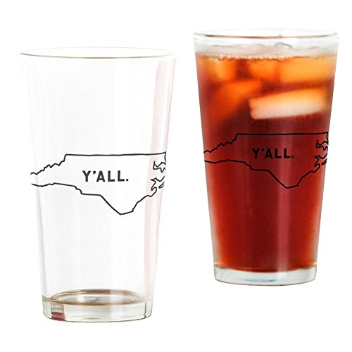 CafePress North Carolina Y'all Pint Glass, 16 oz. Drinking Glass