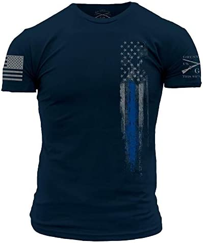 Grunt Style Blue Line Flag T-Shirt