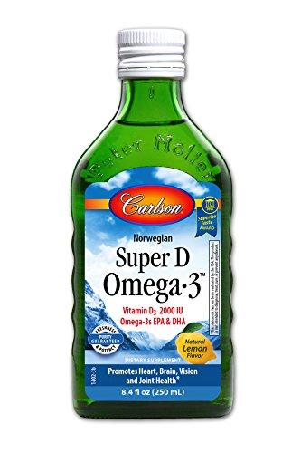 Carlson Super D Omega-3, Lemon, 250 ml