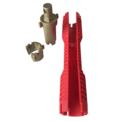 SODIAL 2018 New Faucet and Sink Installer Extra-long design lets turn tool Red