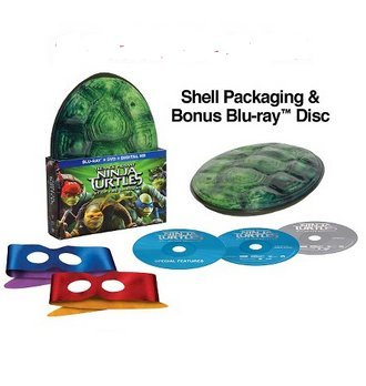 Teenage Mutant Ninja Turtles: Out of the Shadows Exclusive Shell Packaging with 2 Reversible Masks (Blu Ray + DVD + Digital HD)