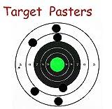 SMARSTICKER 1 Inch Round Blank Black Shooting