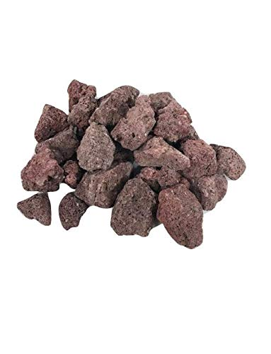 LF inc. 10lb Authentic Red Lava Fire Rocks 3/4 inch Fire Pit and Fire Place Decoration