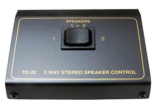 2 Pair Speaker Selector Switch Box Switcher shielded metal enclosure amplifier impedance protection