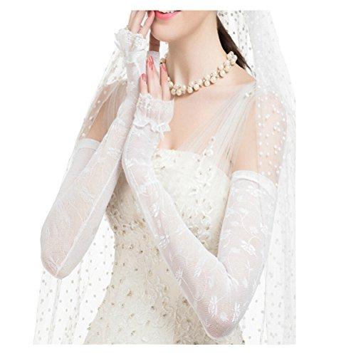 Maitose™ UV Protective Wedding dress Long gloves White One Size by Maitose