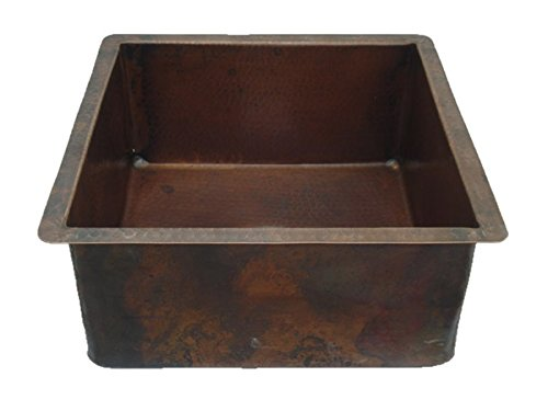 (RTS_CBH-SE-15, Deep Square Bar/Prep Sink - 15x15x7, Dark Brown Patina)