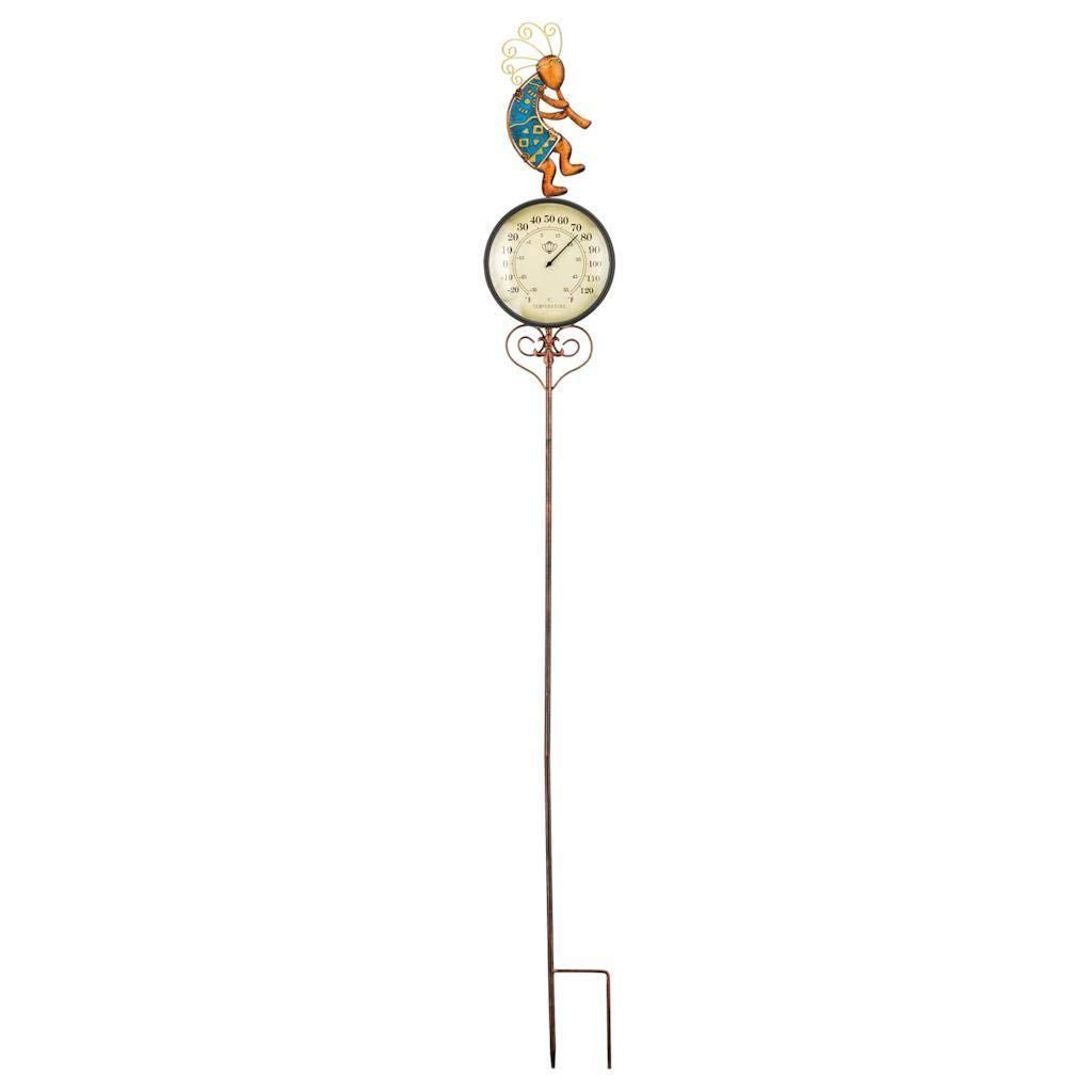 Regal Art & Gift 6.25 Inches x 1.5 Inches x 47.25 Inches Thermometer Garden Stake Kokopelli