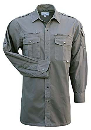 Foxfire Thunder River Gear Mens Long Sleeve Cotton Travel Safari Passport Shirt At Amazon Men S