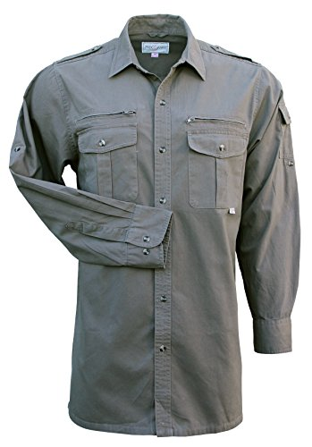 Foxfire Thunder River Gear Mens Long Sleeve Cotton Travel Safari Shirt (Safari Big Shirt)
