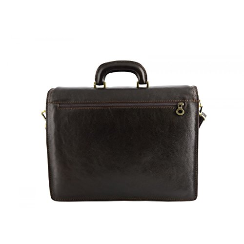 Vera Business Business Pelletteria Borsa Made Colore Italy In Toscana In Moro Pelle qP4Ew4