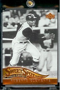 2005 Upper Deck Sweet Spot Classic Baseball Card #73 Roberto Clemente Philadelphia Pirates - Mint Condition - In Protective Display Case !