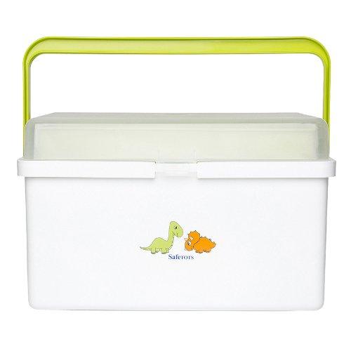 Safetots Dinosaur Baby Box Organiser White Lime