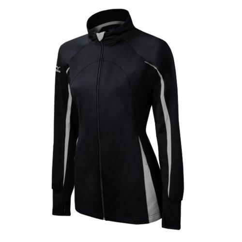 Women's Jacket Nine Zip Mizuno Full Collection Focus Black Grey Youth dHvqw0