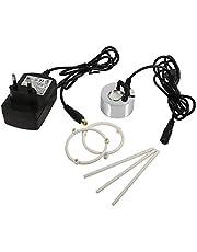 SODIAL EU Plug 24V Ultrasonic Mist Maker Fuente De Agua Estanque Rockery Fishtank Jarrón Birdbath Atomizador Humidificador De Aire Mist Maker con Adaptador
