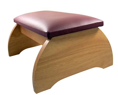 Maple Hardwood Personal Bed Time Prayer Kneeler, 8 Inch (Pecan Stain)
