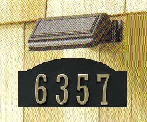 Solar Powered Porch Light For Address Numbers, Mailboxes And Security