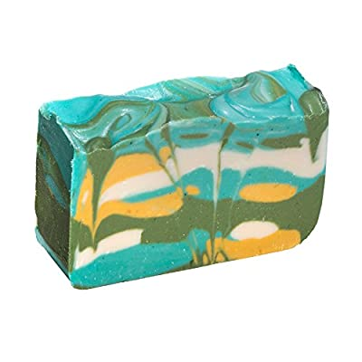 Green Tea Soap Bar - Handmade Organic Herbal Bar with Therapeutic Essential Oils. Natural Moisturizing Body Soap for Skin and Face. With Shea Butter, Coconut Oil and Natural Glycerin
