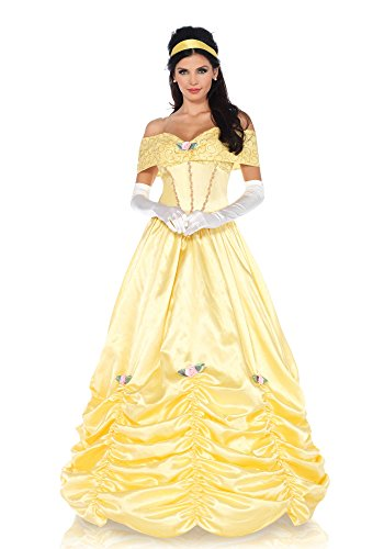 Disney Women's Classic Beauty Costume, Yellow, Large (Disney Princess Costumes Adults)