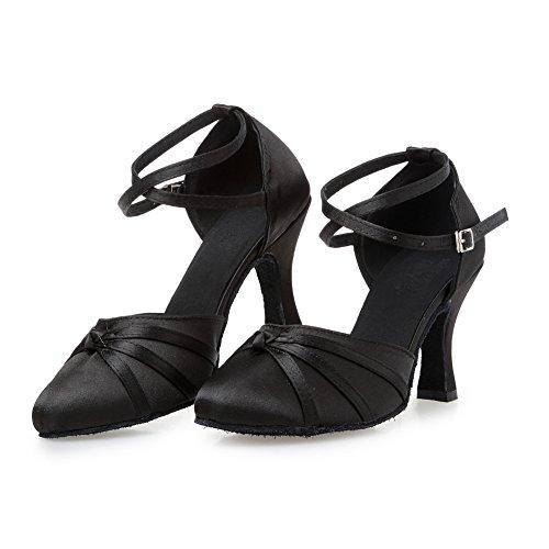 misu - Zapatillas de danza para mujer Negro negro, color Morado, talla 43