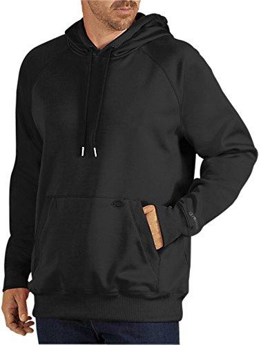 Dickies Men's Work Tech Fleece Pullover Hoodie, Black, Large