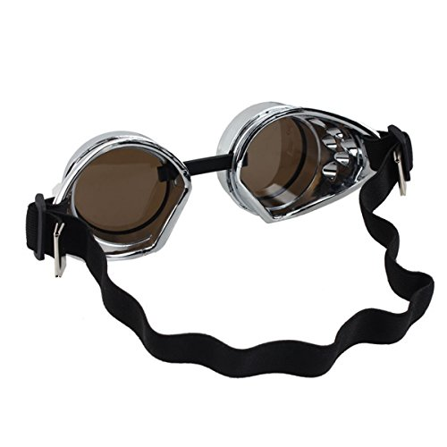 Lunettes Punk Cosplay Style De Steampunk B Vintage Lunettes Soudage gxTaFcxAW
