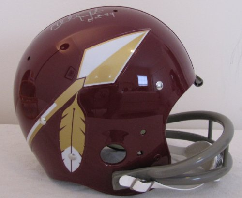 (Charley Taylor Autographed Full Size TK Suspension Helmet - Washington Redskins Hall of Fame Inscription)