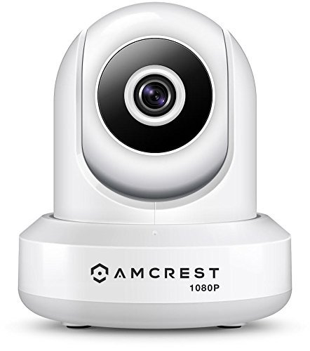 (Amcrest 1080P WiFi Security Camera 2MP (1920TVL) Indoor Pan/Tilt Wireless IP Camera, Home Video Surveillance System with IR Night Vision, Two-Way Talk for Pet, Nanny Cam Baby Monitor IP2M-841W (White))