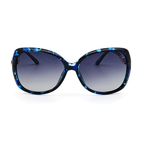 LECKIRUTP10 Mujer Blue Lens Frame Moda Flower Gray gUngBax