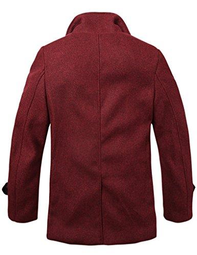 Rojo Abrigos para 010 Match Hombre 010 Lana Claret WgqCnUwvf