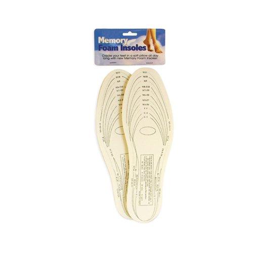 Pair Memory Foam Insoles Shoe Unisex 1 Size Fit Most Cushion Foot Pad Heel Shock