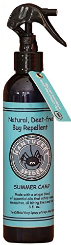 Nantucket Spider Summer Camp. Bug Repellent for Kids. Citronella-free, Soy-free, Deet-free. 8 ounces