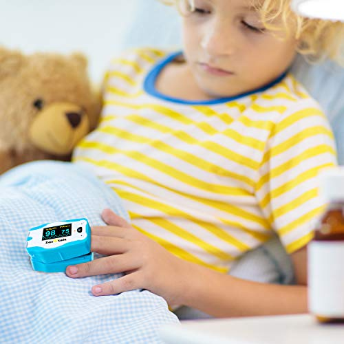 Children Digital Fingertip Pulse Oximeter Blood Oxygen Saturation Monitor with Adorable Animal Theme (not for Newborn/Infant)