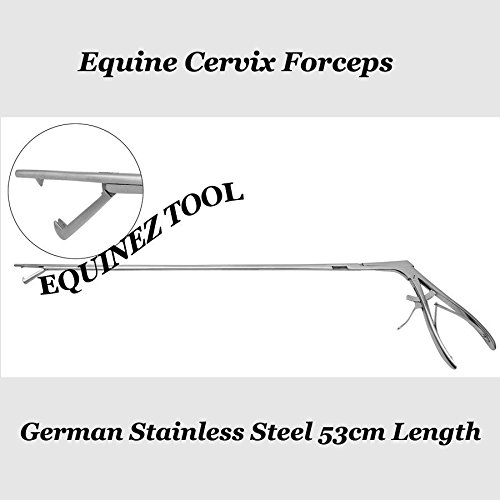 Equine Cervix Forceps German Stainless Steel 53cm Length