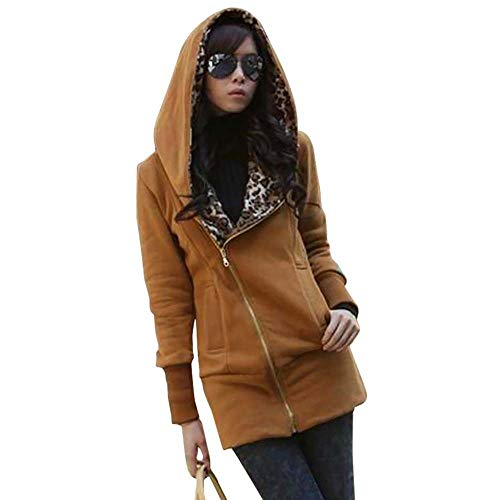 Sales Leopard Jackets Winter Warm Hooded Cardigan Coat AfterSo Womens]()