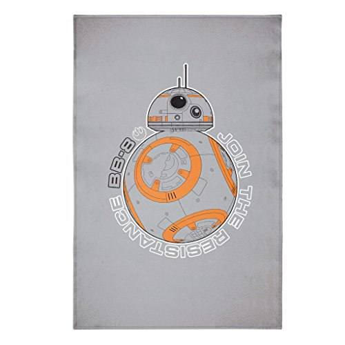 Star Wars Episode 7 BB8 Medallion Decal Woven Jersey Sweatshirt Fleece Blanket Twin, 60