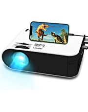 "Mini Movie Projector,WayGoal Portable HD Home Theater Projector 4500 Lx with 50000 Hours LED Lamp Life and 1080P Supported,150"" Display for TV Stick,Video Game,Dual USB Port"