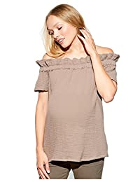 Maternal America Womne's Maternity Off Shoulder Top