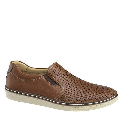 Johnston & Murphy Men's McGuffey Woven Slip-On Shoe Tan Full Grain Leather 8.5 M US from Johnston & Murphy