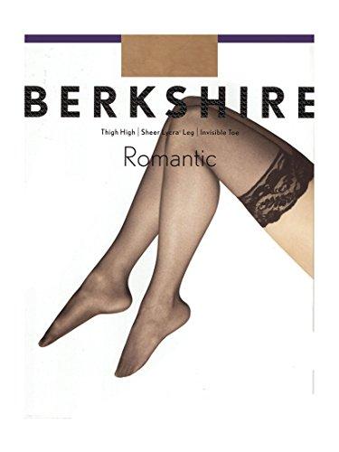 Berkshire Women's Romantic Lace Top Thigh High 1363, City Beige, C-D