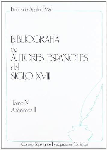 Book Bibliografia De Autores Espanoles D El