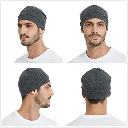 Headshion Skull Cap, Men & Women Multifunctional Headwear Bike Hard Hat Helmet Liner Cotton Beanie Sleep Caps - 2 Pack 5