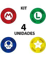 4 Grips Capa Analógico Para Joy-con Nintendo Switch Mario