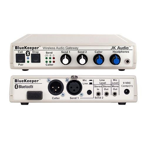 JK Audio BlueKeeper Bluetooth Wireless Audio Gateway, 200 Ohms Output Impedance, 30Hz - 17 kHz Frequency Response by JK Audio