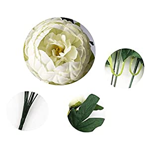 SHINE-CO LIGHTING Artificial Peony Silk Flowers Bouquet Glorious Moral for Home Office Parties and Wedding 2